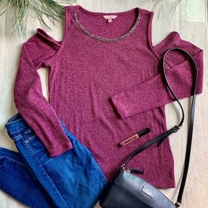 Juicy Couture Cold Shoulder Sweater ✨NWOT✨